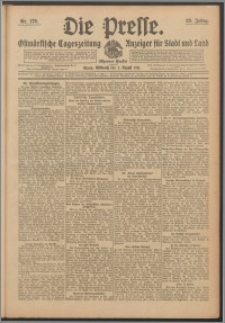 Die Presse 1911, Jg. 29, Nr. 179 Zweites Blatt, Drittes Blatt