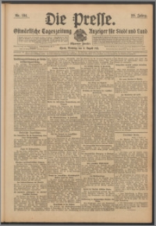 Die Presse 1911, Jg. 29, Nr. 184 Zweites Blatt, Drittes Blatt