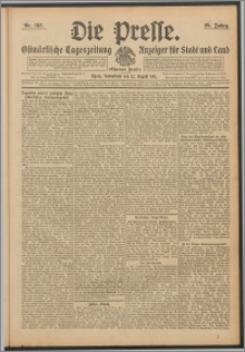 Die Presse 1911, Jg. 29, Nr. 188 Zweites Blatt, Drittes Blatt