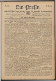 Die Presse 1911, Jg. 29, Nr. 189 Zweites Blatt, Drittes Blatt, Viertes Blatt
