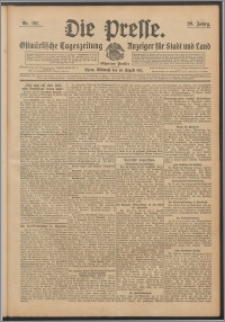 Die Presse 1911, Jg. 29, Nr. 191 Zweites Blatt, Drittes Blatt