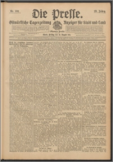 Die Presse 1911, Jg. 29, Nr. 193 Zweites Blatt, Drittes Blatt