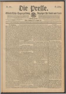 Die Presse 1911, Jg. 29, Nr. 195 Zweites Blatt, Drittes Blatt, Viertes Blatt, Fünftes Blatt