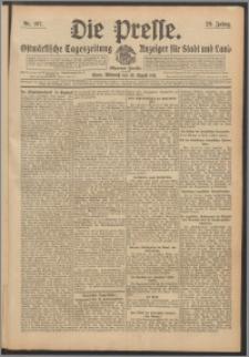 Die Presse 1911, Jg. 29, Nr. 197 Zweites Blatt, Drittes Blatt