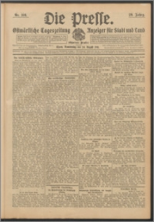 Die Presse 1911, Jg. 29, Nr. 198 Zweites Blatt, Drittes Blatt