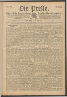 Die Presse 1911, Jg. 29, Nr. 199 Zweites Blatt, Drittes Blatt