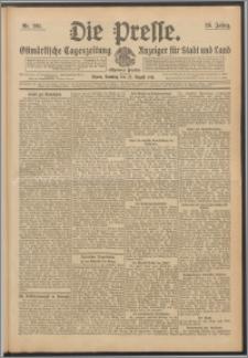 Die Presse 1911, Jg. 29, Nr. 201 Zweites Blatt, Drittes Blatt, Viertes Blatt, Fünftes Blatt
