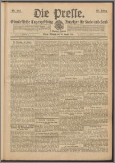 Die Presse 1911, Jg. 29, Nr. 203 Zweites Blatt, Drittes Blatt