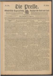 Die Presse 1911, Jg. 29, Nr. 204 Zweites Blatt, Drittes Blatt