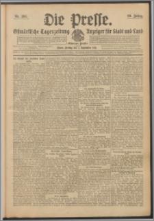 Die Presse 1911, Jg. 29, Nr. 205 Zweites Blatt, Drittes Blatt