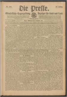 Die Presse 1911, Jg. 29, Nr. 209 Zweites Blatt, Drittes Blatt