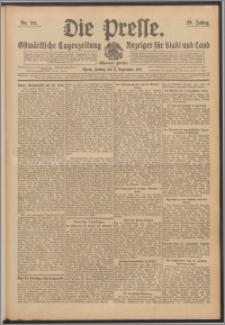 Die Presse 1911, Jg. 29, Nr. 211 Zweites Blatt, Drittes Blatt