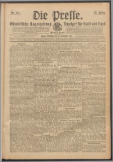 Die Presse 1911, Jg. 29, Nr. 214 Zweites Blatt, Drittes Blatt
