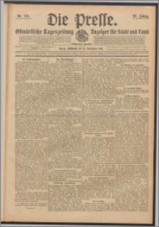 Die Presse 1911, Jg. 29, Nr. 215 Zweites Blatt, Drittes Blatt