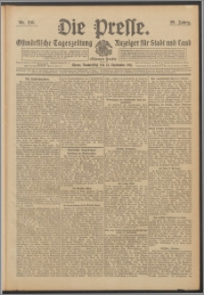 Die Presse 1911, Jg. 29, Nr. 216 Zweites Blatt, Drittes Blatt