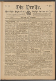Die Presse 1911, Jg. 29, Nr. 217 Zweites Blatt, Drittes Blatt