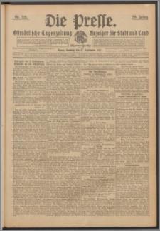 Die Presse 1911, Jg. 29, Nr. 219 Zweites Blatt, Drittes Blatt, Viertes Blatt, Fünftes Blatt