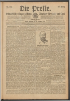 Die Presse 1911, Jg. 29, Nr. 221 Zweites Blatt, Drittes Blatt