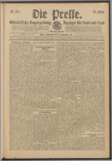 Die Presse 1911, Jg. 29, Nr. 222 Zweites Blatt, Drittes Blatt