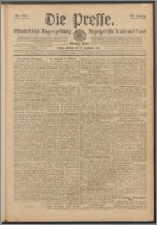 Die Presse 1911, Jg. 29, Nr. 223 Zweites Blatt, Drittes Blatt
