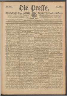 Die Presse 1911, Jg. 29, Nr. 224 Zweites Blatt, Drittes Blatt