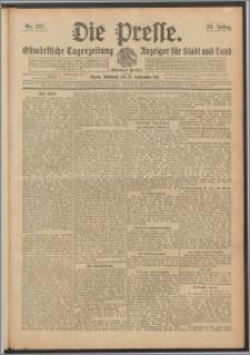Die Presse 1911, Jg. 29, Nr. 227 Zweites Blatt, Drittes Blatt, Viertes Blatt