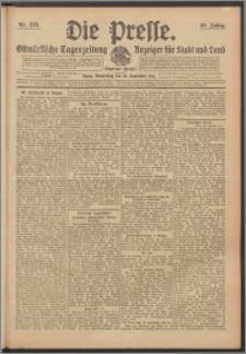 Die Presse 1911, Jg. 29, Nr. 228 Zweites Blatt, Drittes Blatt