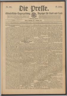 Die Presse 1911, Jg. 29, Nr. 232 Zweites Blatt, Drittes Blatt, Viertes Blatt