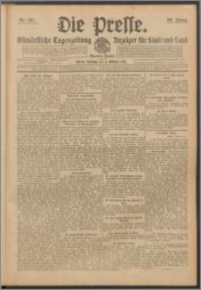 Die Presse 1911, Jg. 29, Nr. 237 Zweites Blatt, Drittes Blatt, Viertes Blatt, Fünftes Blatt