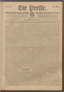 Die Presse 1911, Jg. 29, Nr. 238 Zweites Blatt, Drittes Blatt
