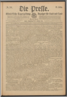 Die Presse 1911, Jg. 29, Nr. 246 Zweites Blatt, Drittes Blatt