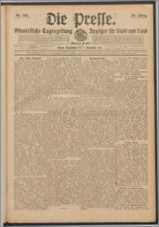 Die Presse 1911, Jg. 29, Nr. 258 Zweites Blatt, Drittes Blatt, Viertes Blatt