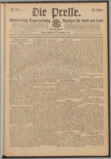Die Presse 1911, Jg. 29, Nr. 259 Zweites Blatt, Drittes Blatt, Viertes Blatt