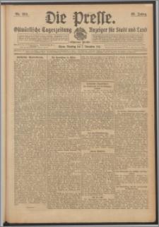 Die Presse 1911, Jg. 29, Nr. 262 Zweites Blatt, Drittes Blatt