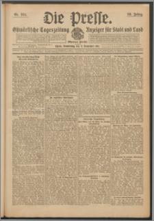 Die Presse 1911, Jg. 29, Nr. 264 Zweites Blatt, Drittes Blatt, Viertes Blatt