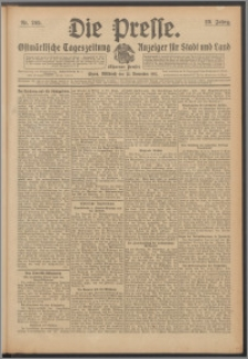 Die Presse 1911, Jg. 29, Nr. 269 Zweites Blatt, Drittes Blatt