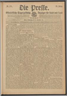 Die Presse 1911, Jg. 29, Nr. 270 Zweites Blatt, Drittes Blatt
