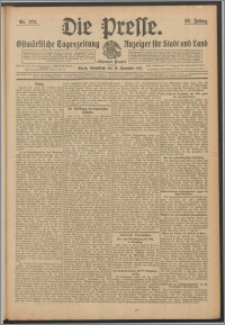 Die Presse 1911, Jg. 29, Nr. 272 Zweites Blatt, Drittes Blatt