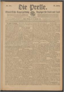 Die Presse 1911, Jg. 29, Nr. 274 Zweites Blatt, Drittes Blatt