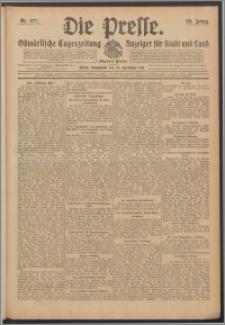 Die Presse 1911, Jg. 29, Nr. 277 Zweites Blatt, Drittes Blatt