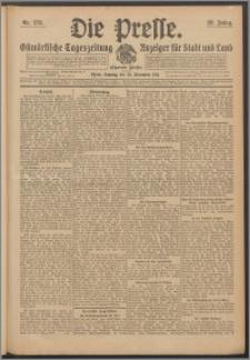 Die Presse 1911, Jg. 29, Nr. 278 Zweites Blatt, Drittes Blatt, Viertes Blatt, Fünftes Blatt