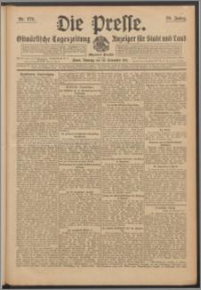 Die Presse 1911, Jg. 29, Nr. 279 Zweites Blatt, Drittes Blatt