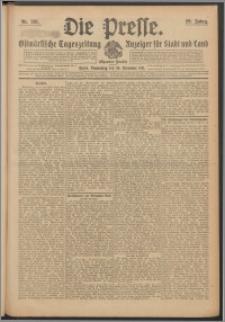 Die Presse 1911, Jg. 29, Nr. 281 Zweites Blatt, Drittes Blatt