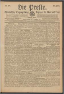 Die Presse 1911, Jg. 29, Nr. 291 Zweites Blatt, Drittes Blatt, Viertes Blatt