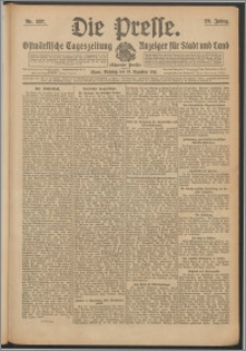 Die Presse 1911, Jg. 29, Nr. 297 Zweites Blatt, Drittes Blatt, Viertes Blatt