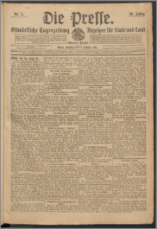 Die Presse 1912, Jg. 30, Nr. 5 Zweites Blatt, Drittes Blatt, Viertes Blatt, Fünftes Blatt