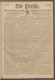 Die Presse 1912, Jg. 30, Nr. 27 Zweites Blatt, Drittes Blatt