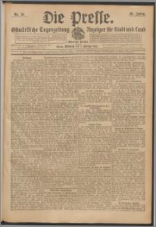 Die Presse 1912, Jg. 30, Nr. 31 Zweites Blatt, Drittes Blatt