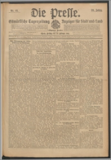 Die Presse 1912, Jg. 30, Nr. 45 Zweites Blatt, Drittes Blatt