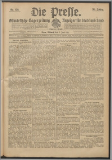 Die Presse 1912, Jg. 30, Nr. 129 Zweites Blatt, Drittes Blatt